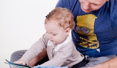 Заставка к записи - Читаем детям: без папы не обойтись!